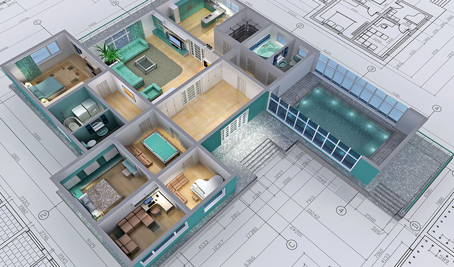 Sketchup design de interiores em 3d eduk for Plans de maison 3d