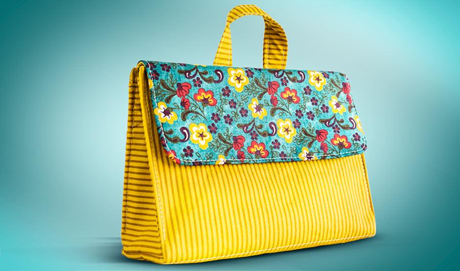 Bolsa de tecido para viagem : Curso de bolsas e acess?rios femininos em tecido eduk