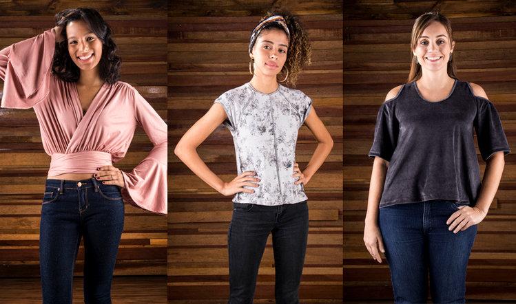 Modelagem de blusas de malha